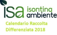 Calendario raccolta differenziata 2018
